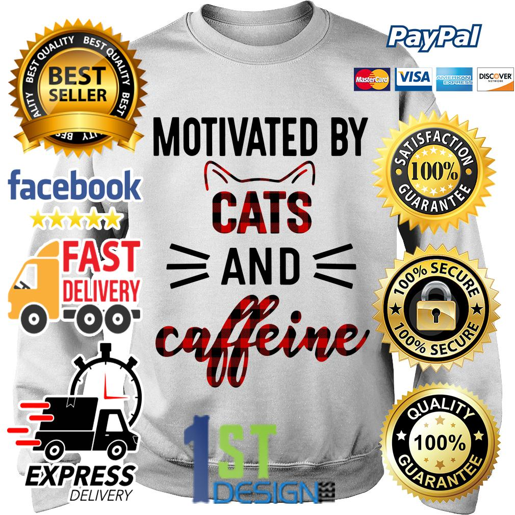 Motivated by cats and caffeine Sweater