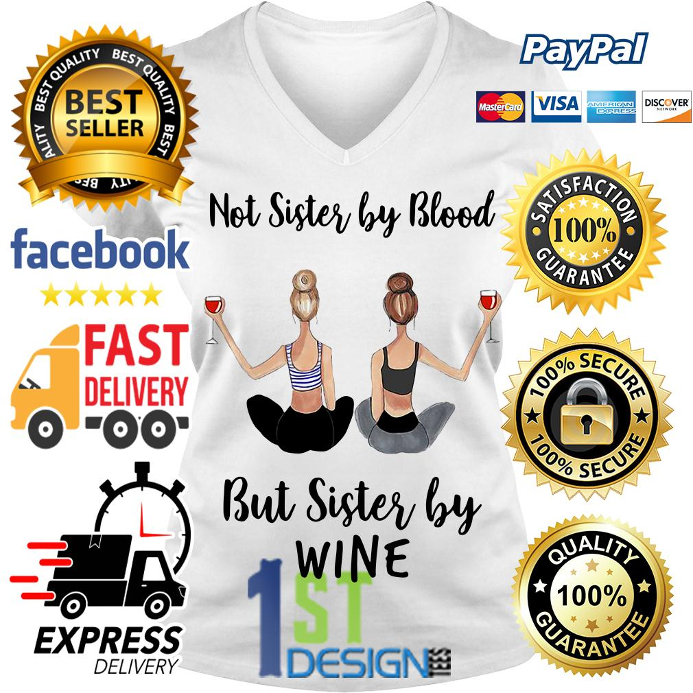 Not sister by blood but sister by wine V-neck T-shirt