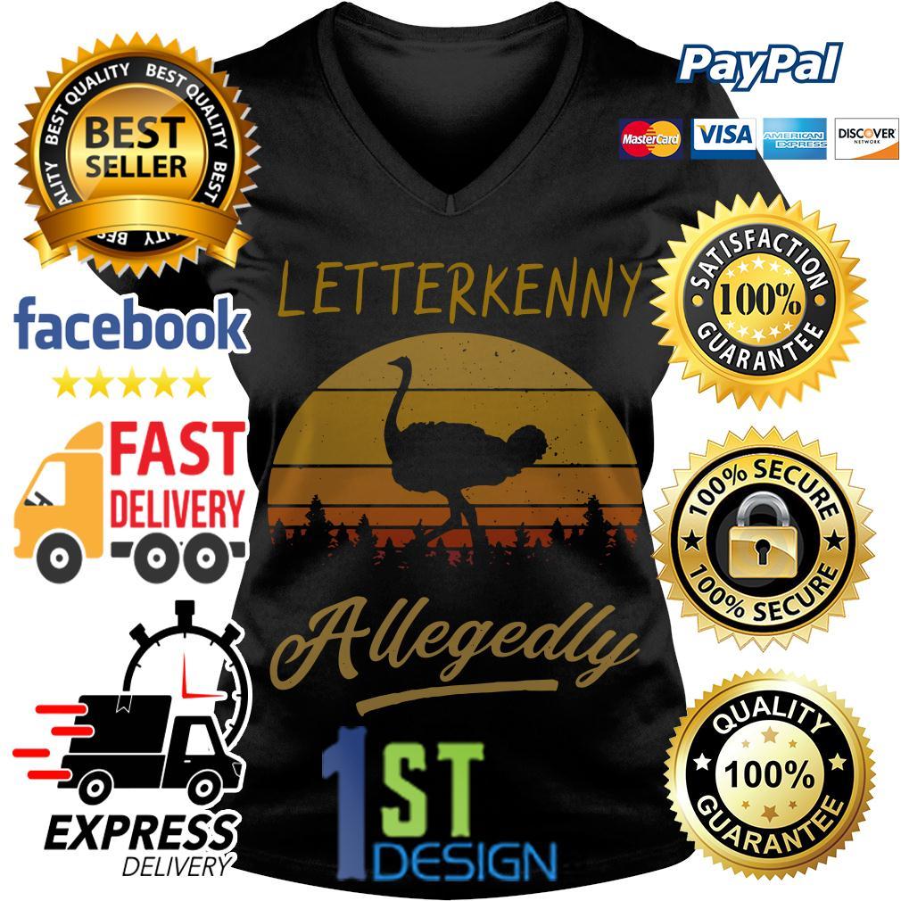 Ostrich Letterkenny Allegedly vintage retro V-neck T-shirt