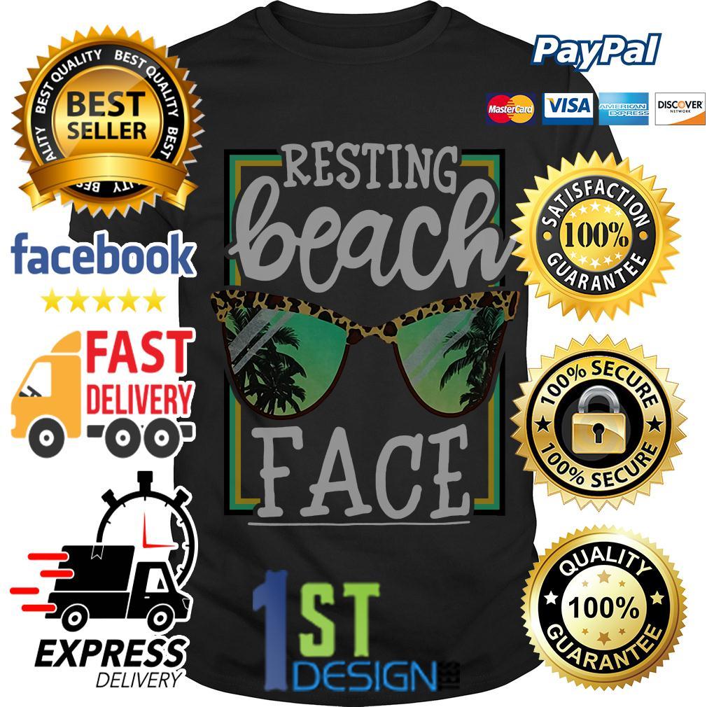 Resting beach face shirt