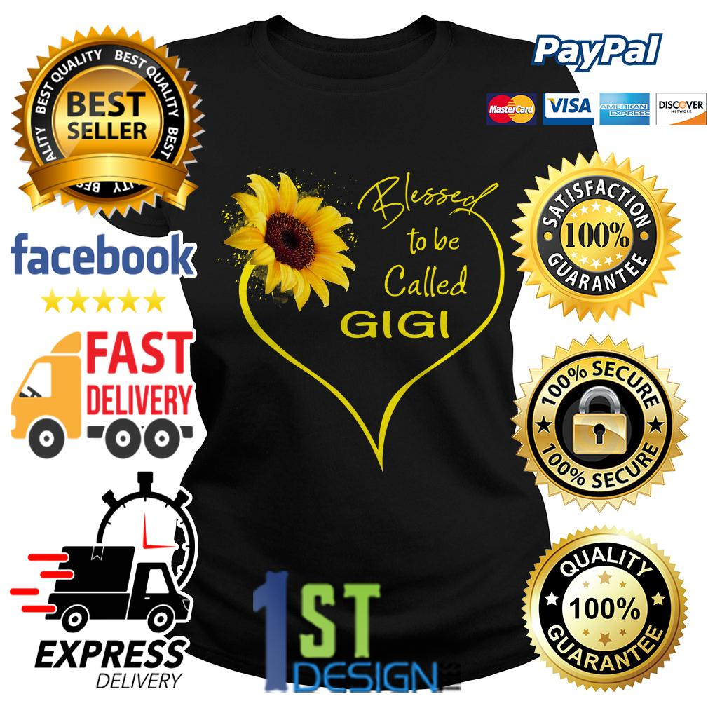 Sunflower blessed to be called Gigi Ladies Tee