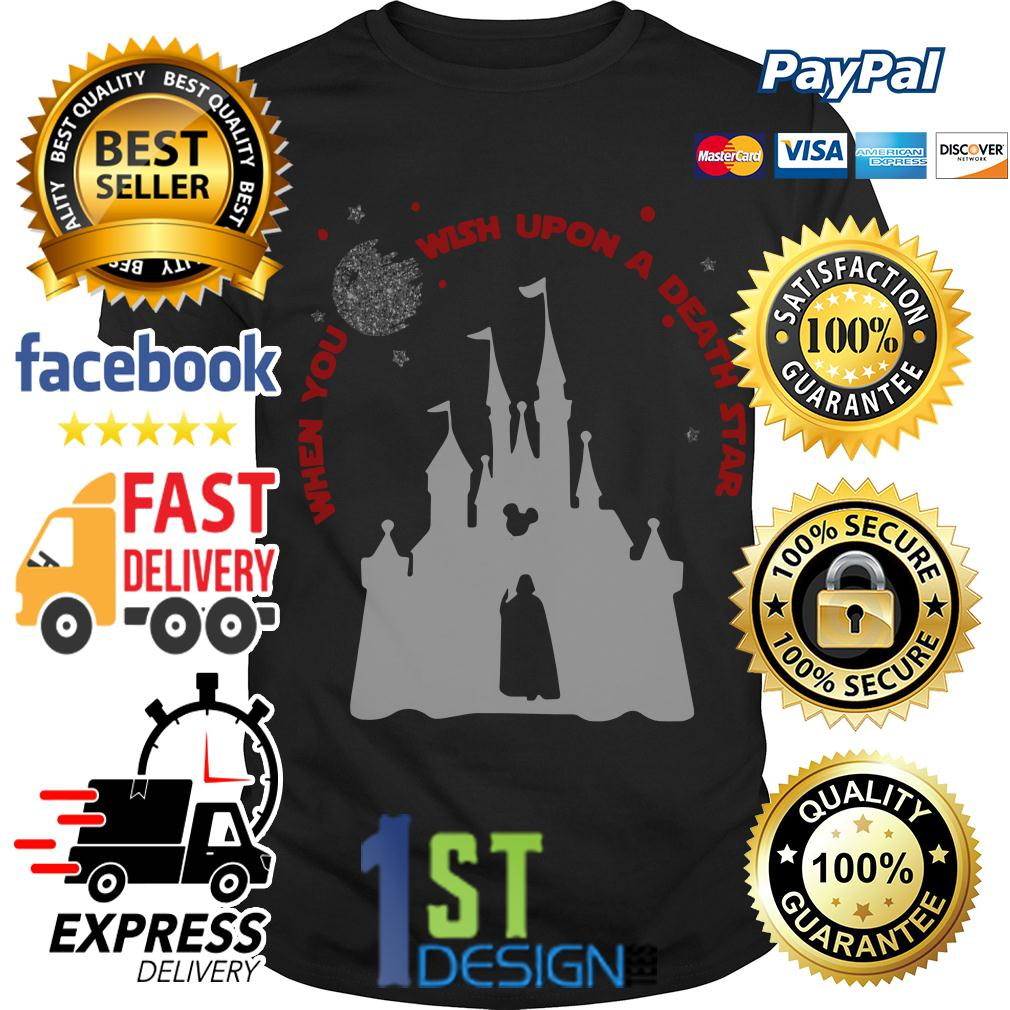 Vader Star Wars and Castle Disney when you wish upon a star shirt