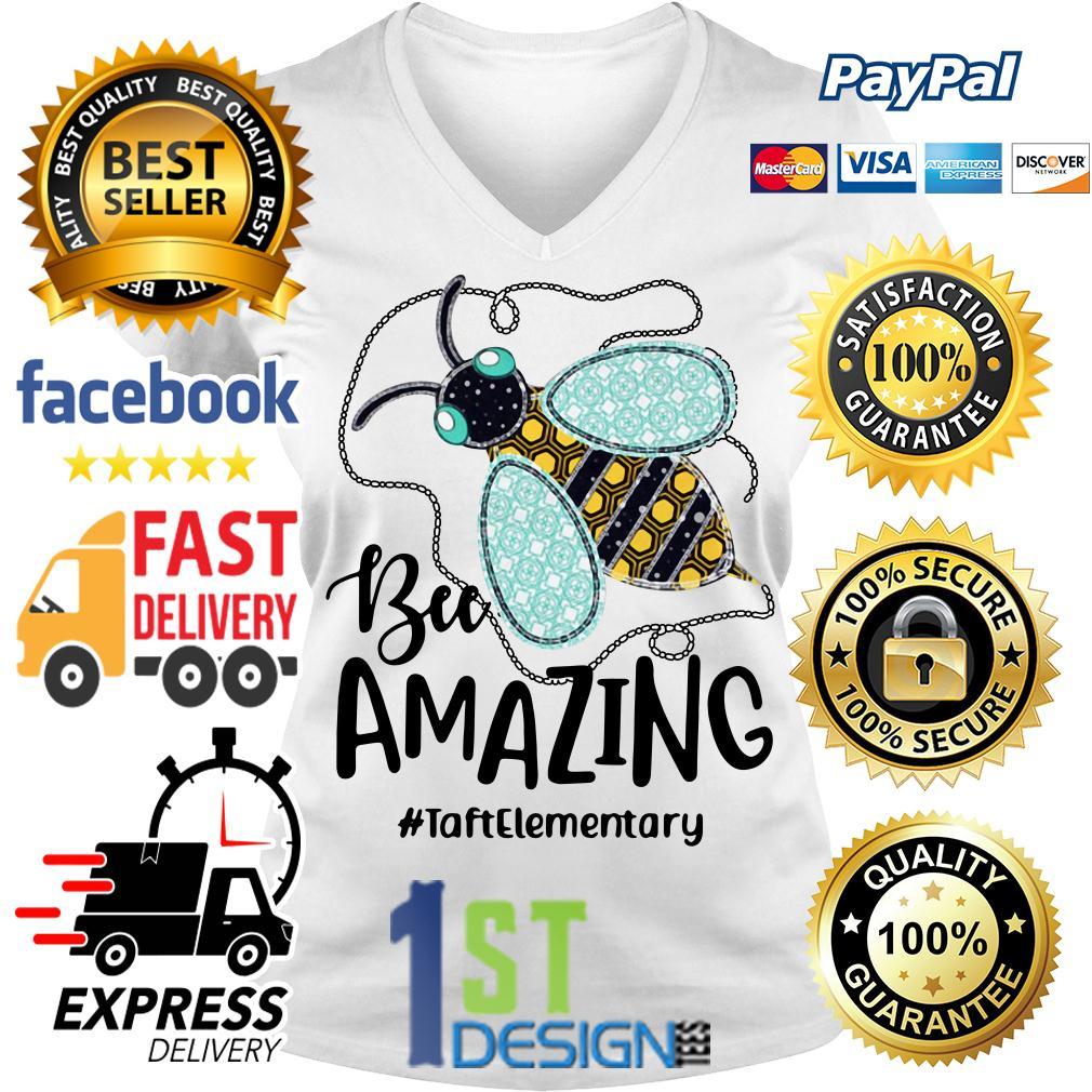 Bee amazing #taftelementary V-neck T-shirt