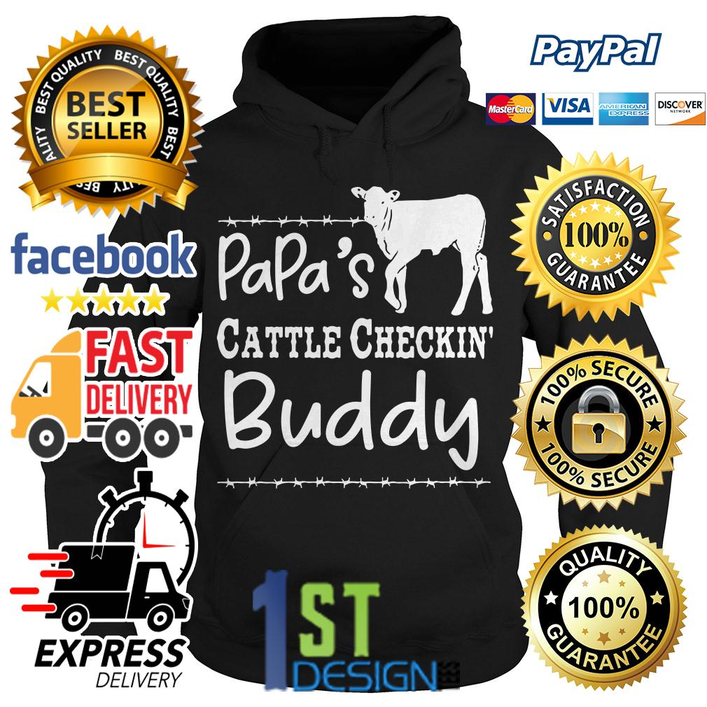 Cow papa's cattle checkin' buddy Hoodie