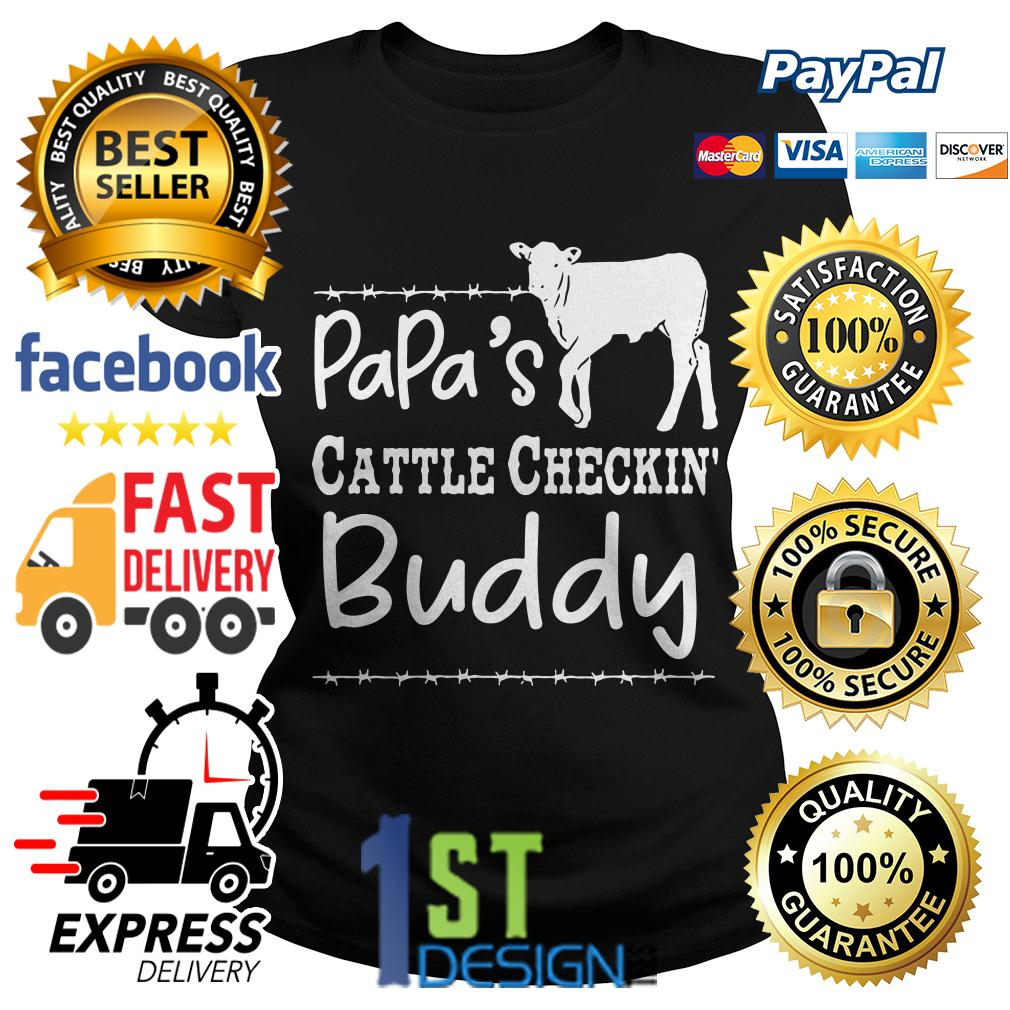 Cow papa's cattle checkin' buddy Ladies Tee