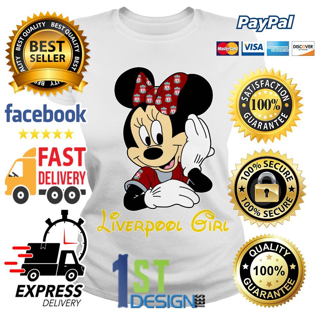 Disney Minnie mouse Liverpool girl Ladies Tee