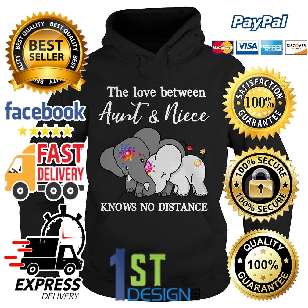 Elephant the love between aunt and niece knows no distance Hoodie