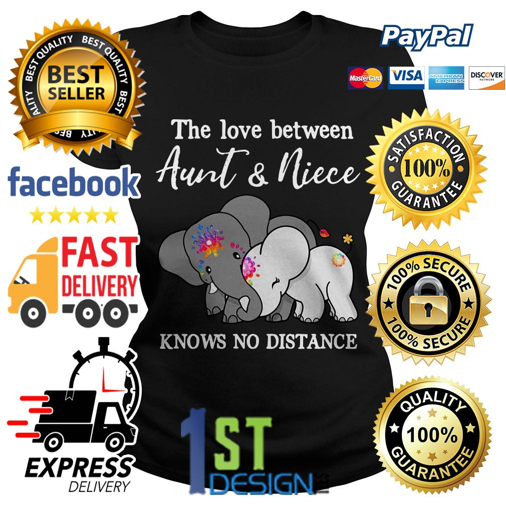 Elephant the love between aunt and niece knows no distance Ladies Tee