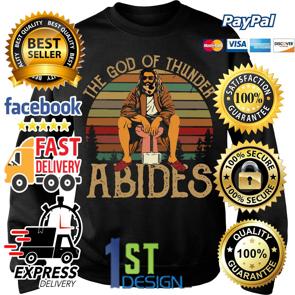 Fat Thor the God of thunder Abides vintage Sweater