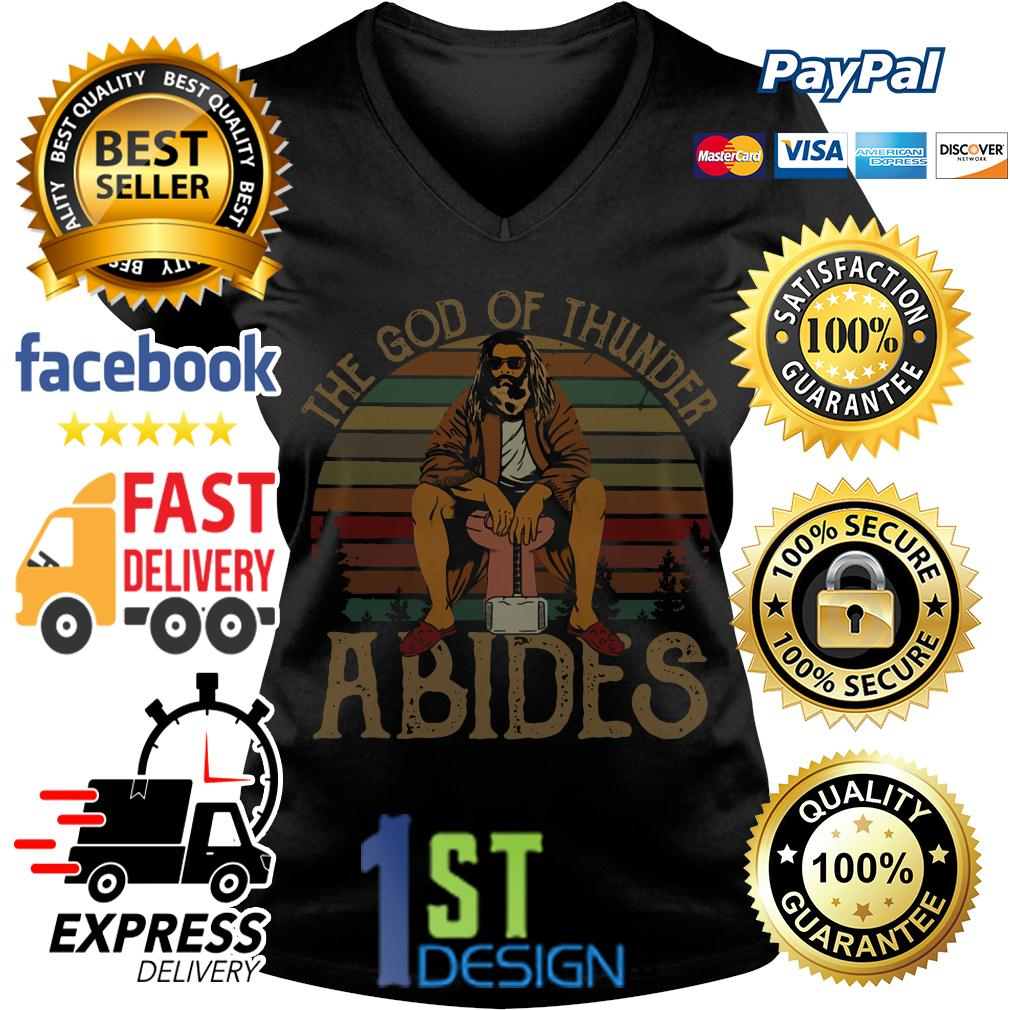 Fat Thor the God of thunder Abides vintage V-neck T-shirt