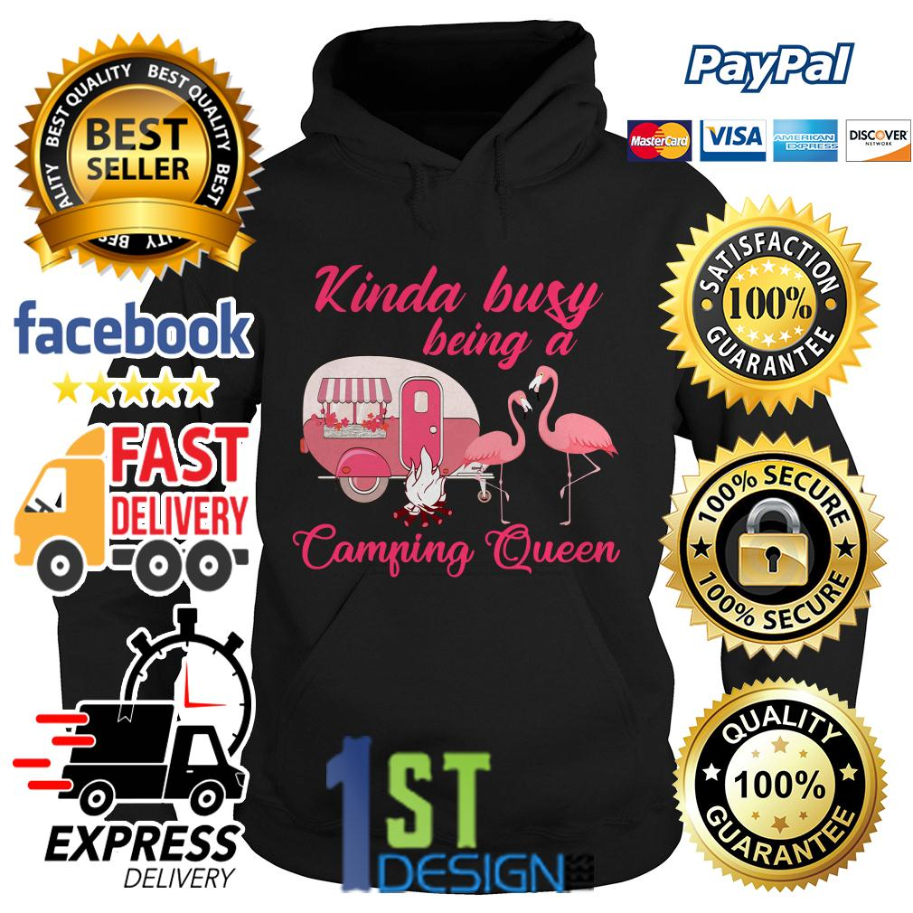 Flamingo kinda busy being a camping queen Hoodie