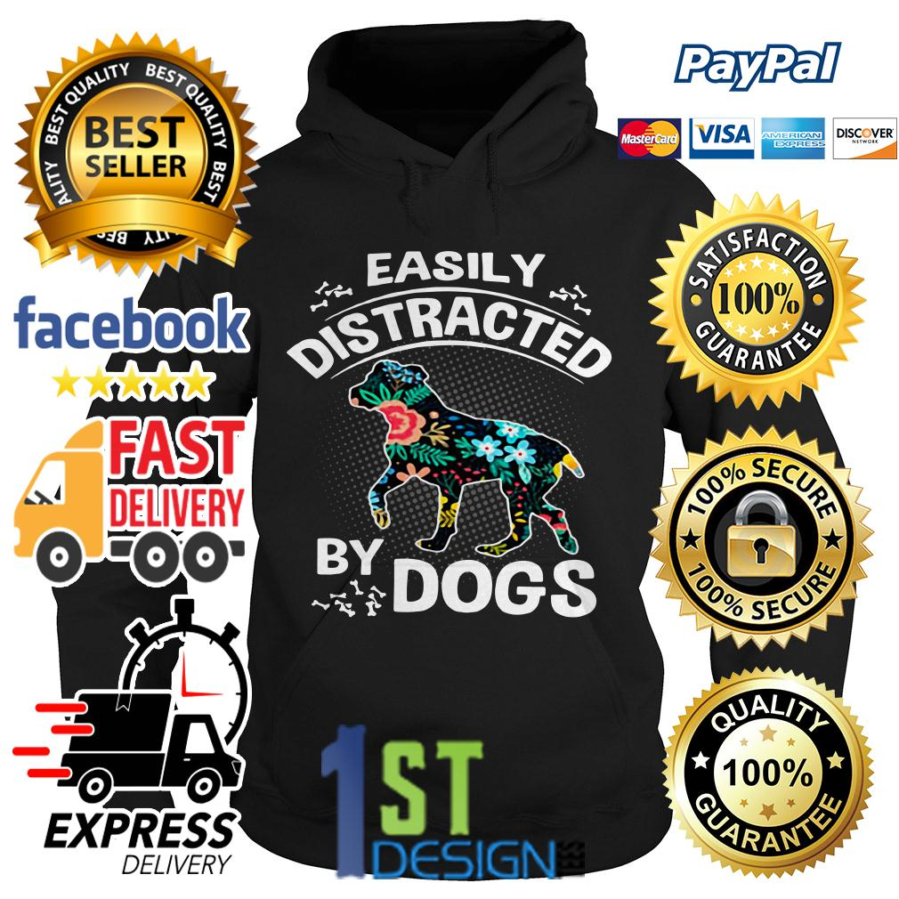 Floral easily distracted by dogs Hoodie