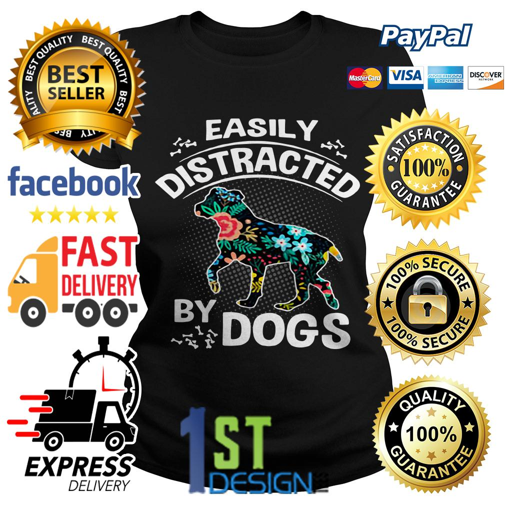Floral easily distracted by dogs Ladies Tee