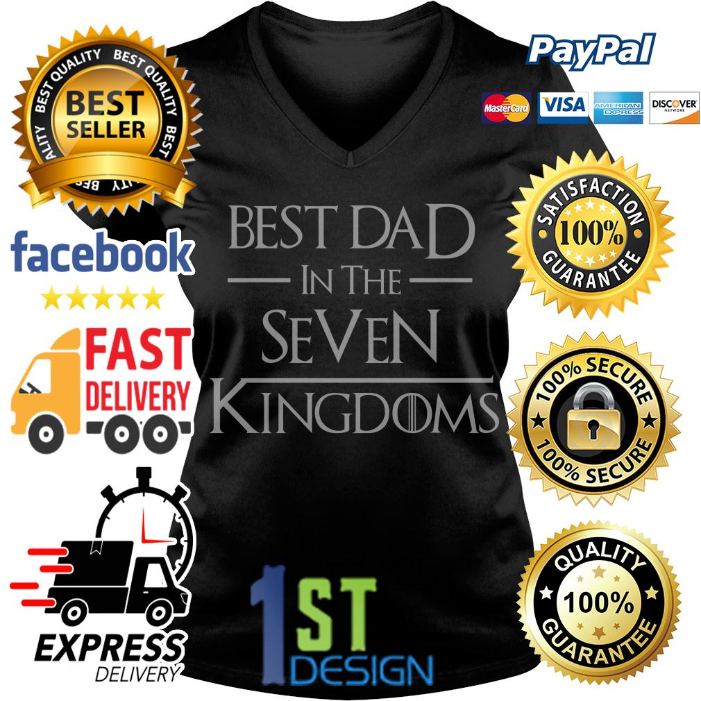 Game of Thrones best dad in the seven Kingdoms V-neck T-shirt