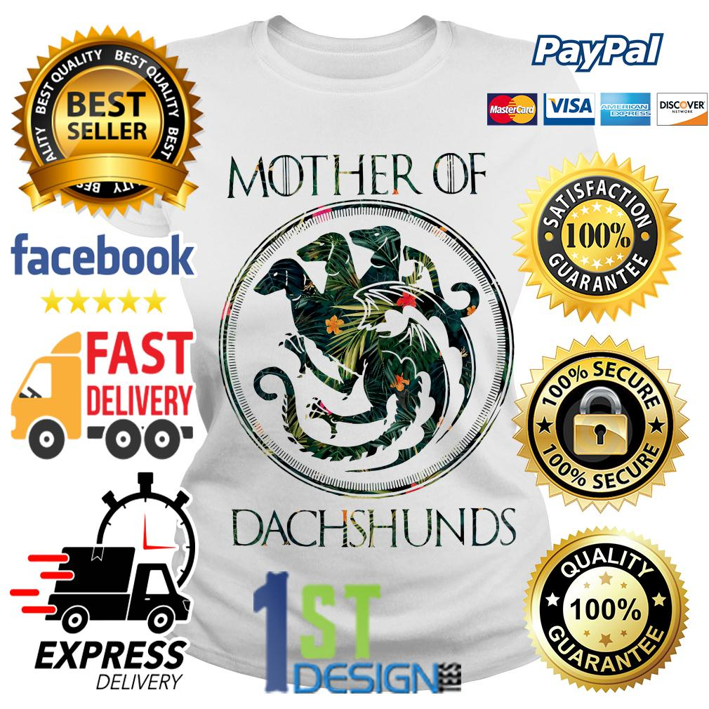 Game of Thrones floral mother of Dachshunds shirt