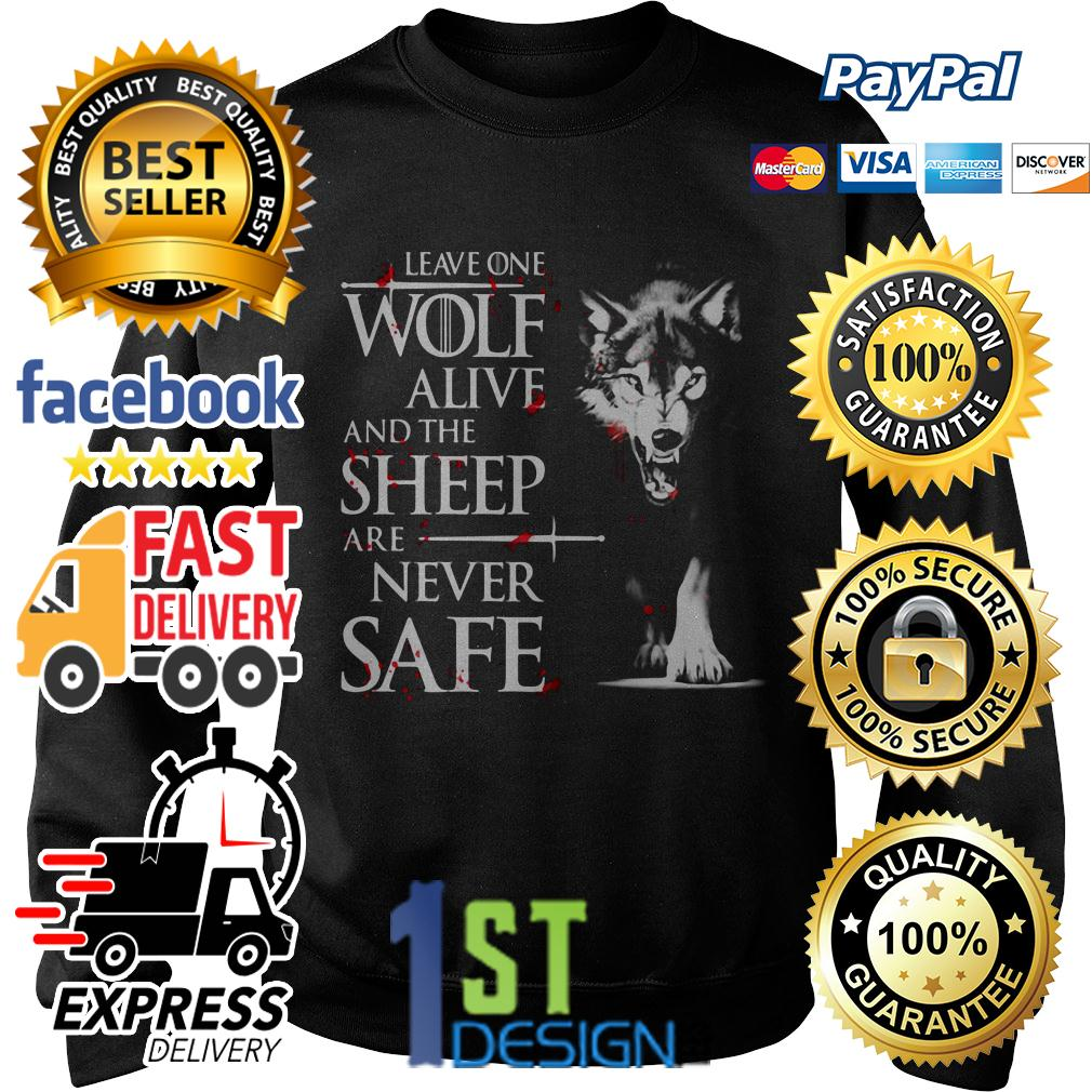 Game of Thrones leave one wolf alive and the sheep are never safe Sweater