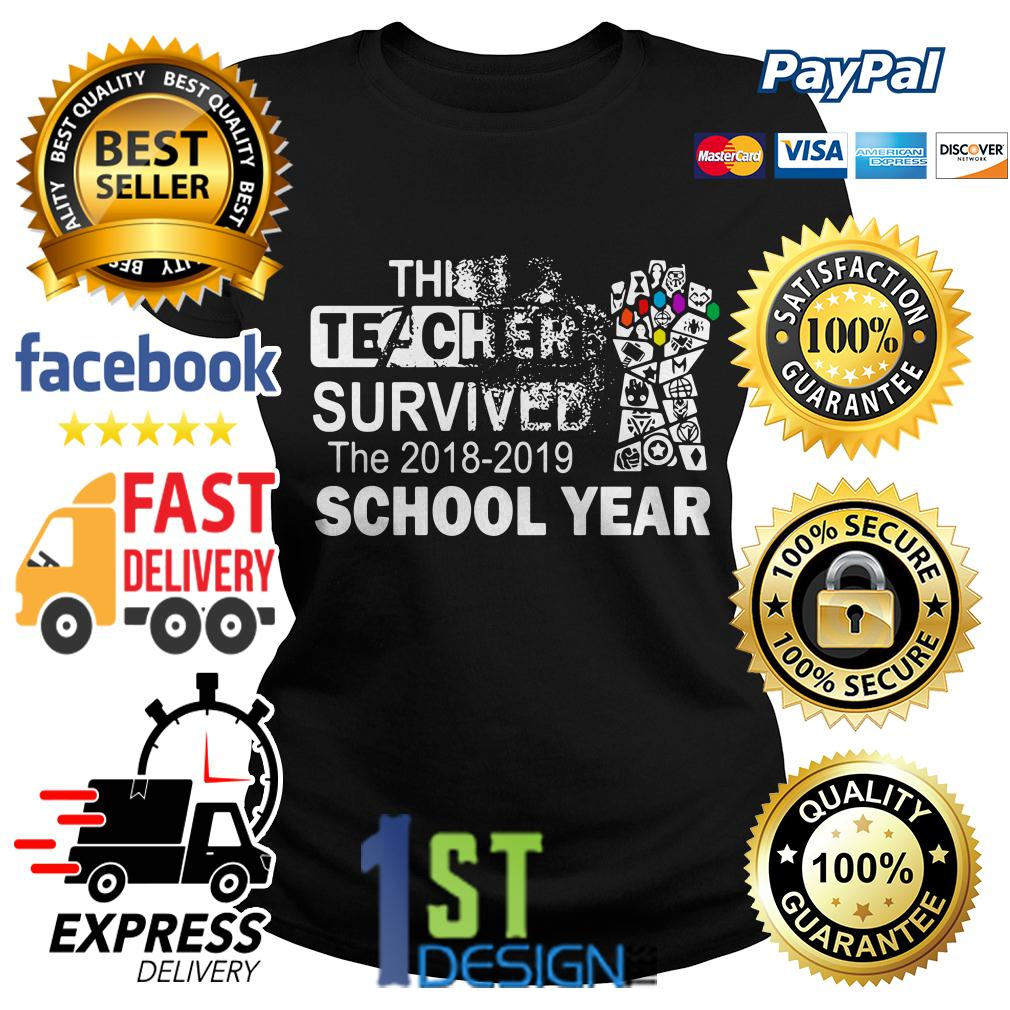 Gauntlet Avengers this teacher survived the 2018-2019 school year shirt