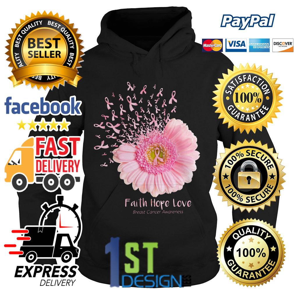 Gerbera faith hope love breast cancer awareness Hoodie