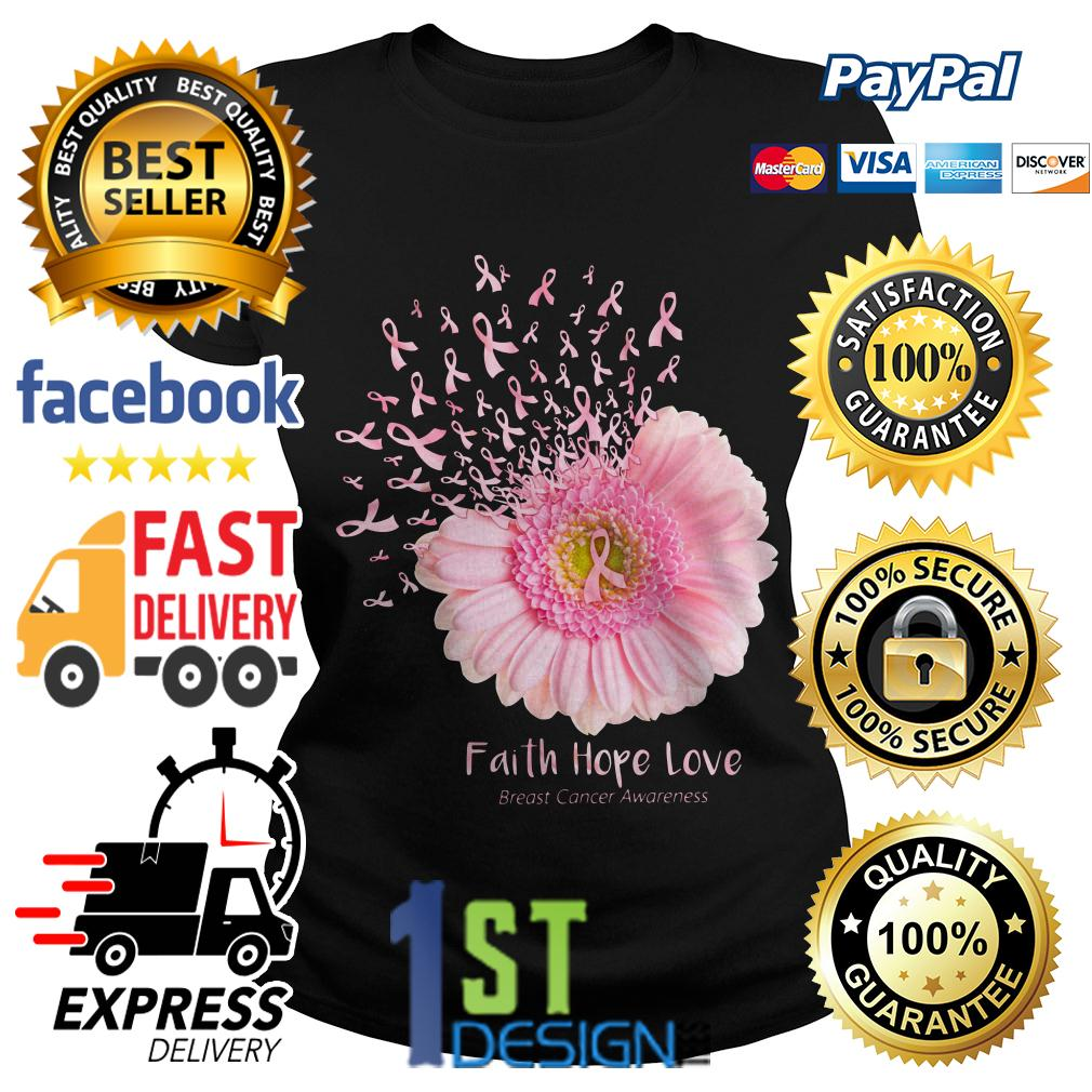 Gerbera faith hope love breast cancer awareness Ladies Tee