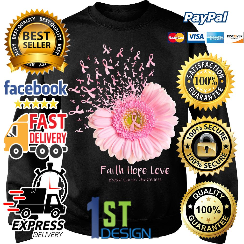 Gerbera faith hope love breast cancer awareness Sweater