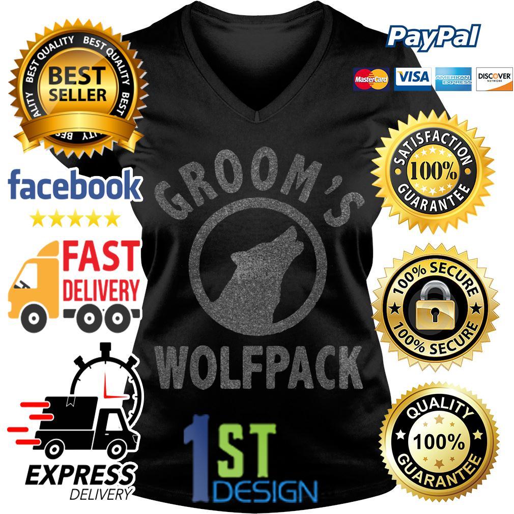 Grooms Wolfpack V-neck T-shirt
