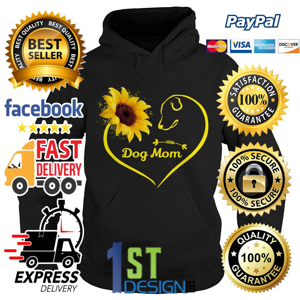 Heart shaped sunflower love dog mom Hoodie