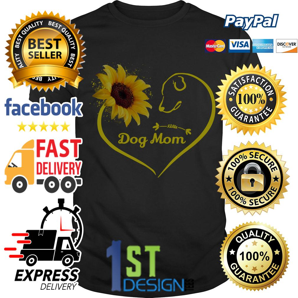 Heart shaped sunflower love dog mom shirt