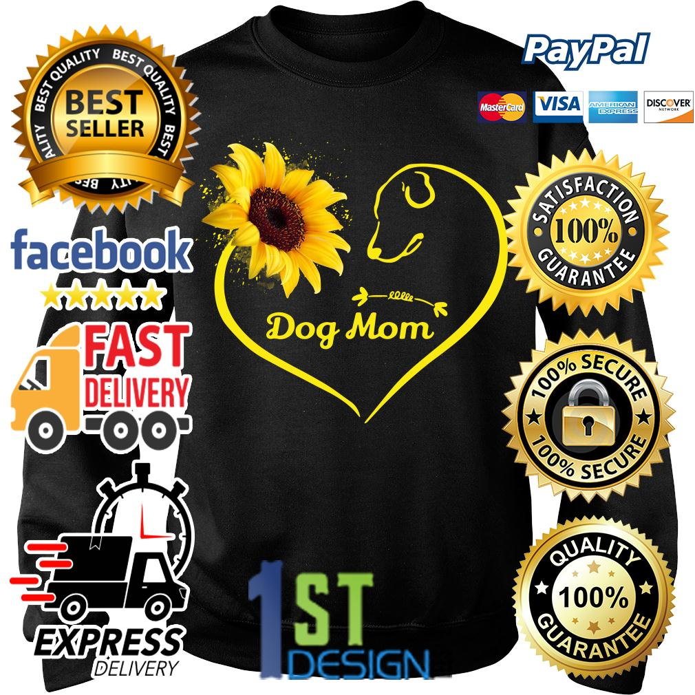 Heart shaped sunflower love dog mom Sweater