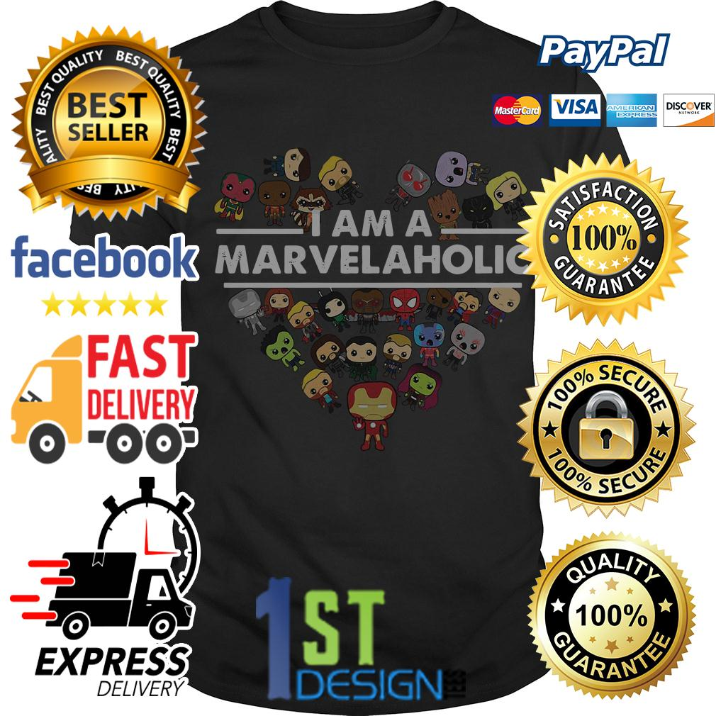 I am a Marvelaholic Marvel aholic Avengers shirt