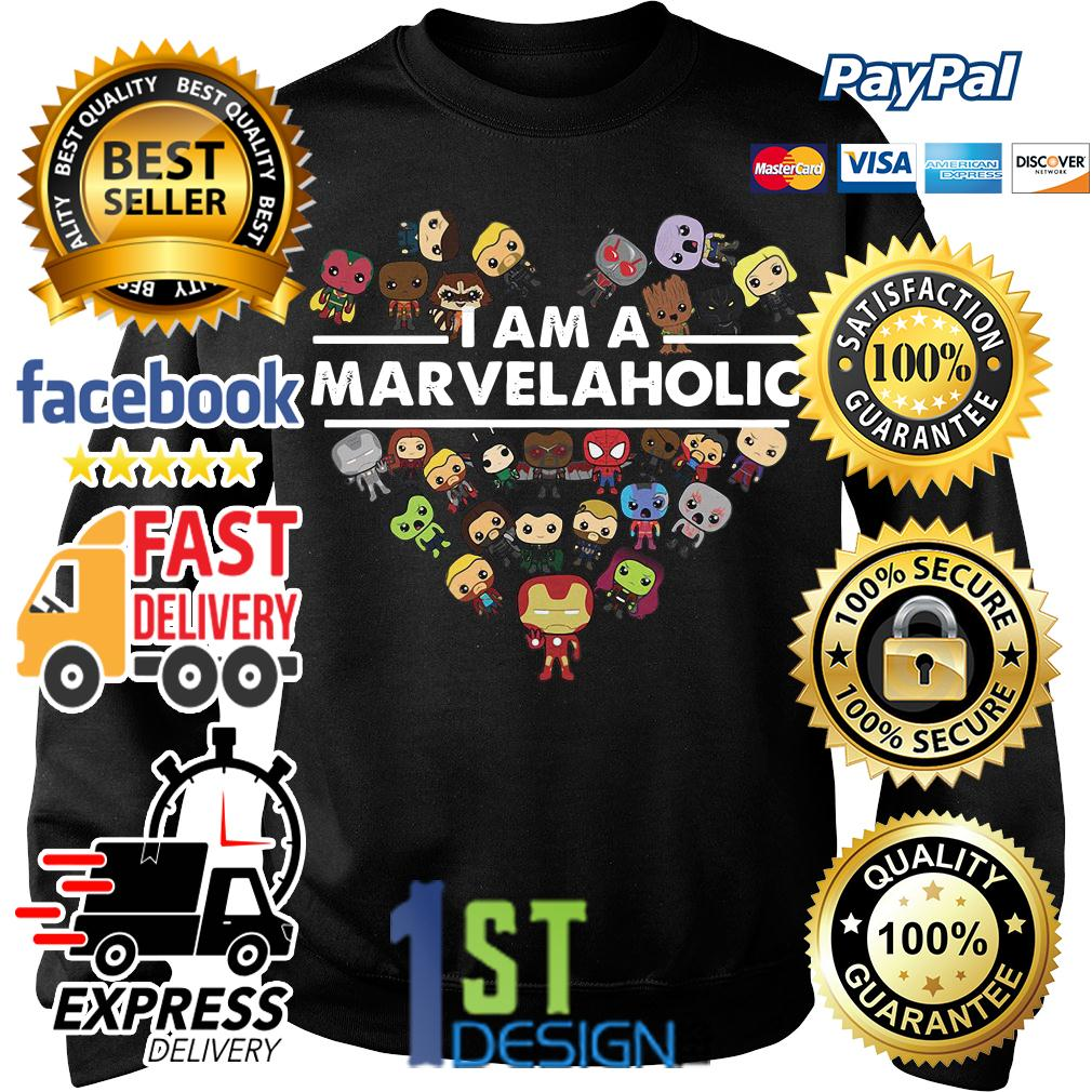 I am a Marvelaholic Marvel aholic Avengers Sweater