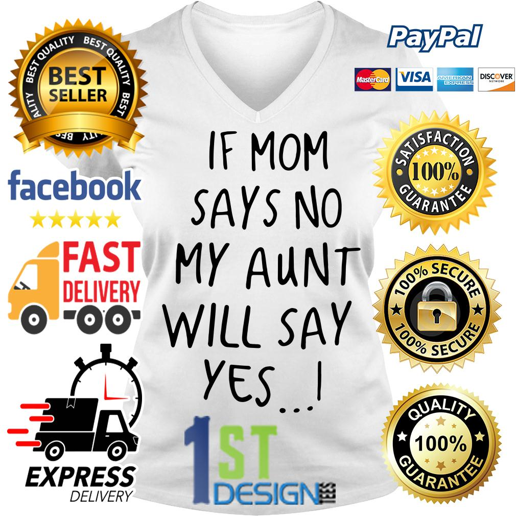 If mom says no my aunt will say yes V-neck T-shirt