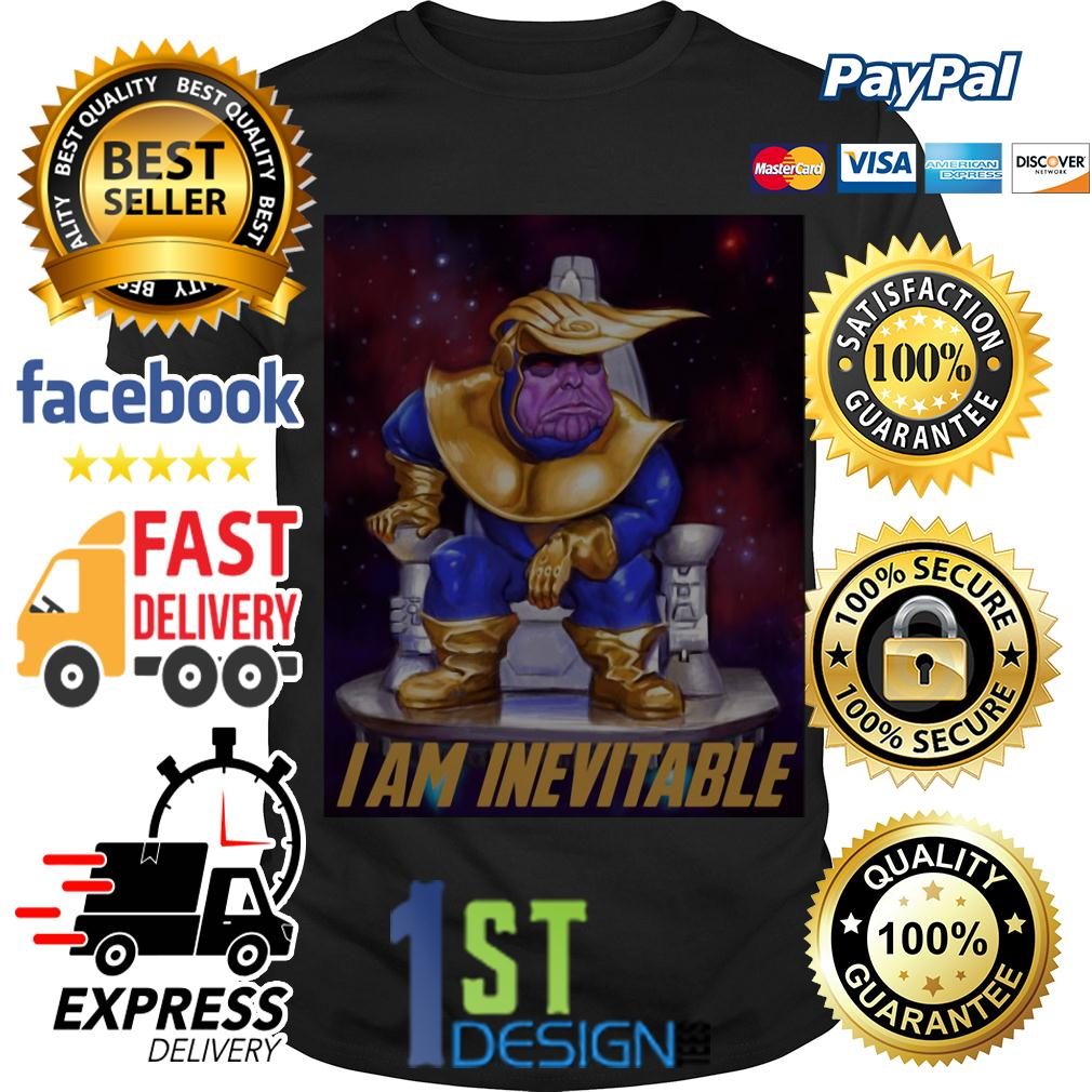 Marvel Avengers Endgame Thanos Trump I am Inevitable shirt