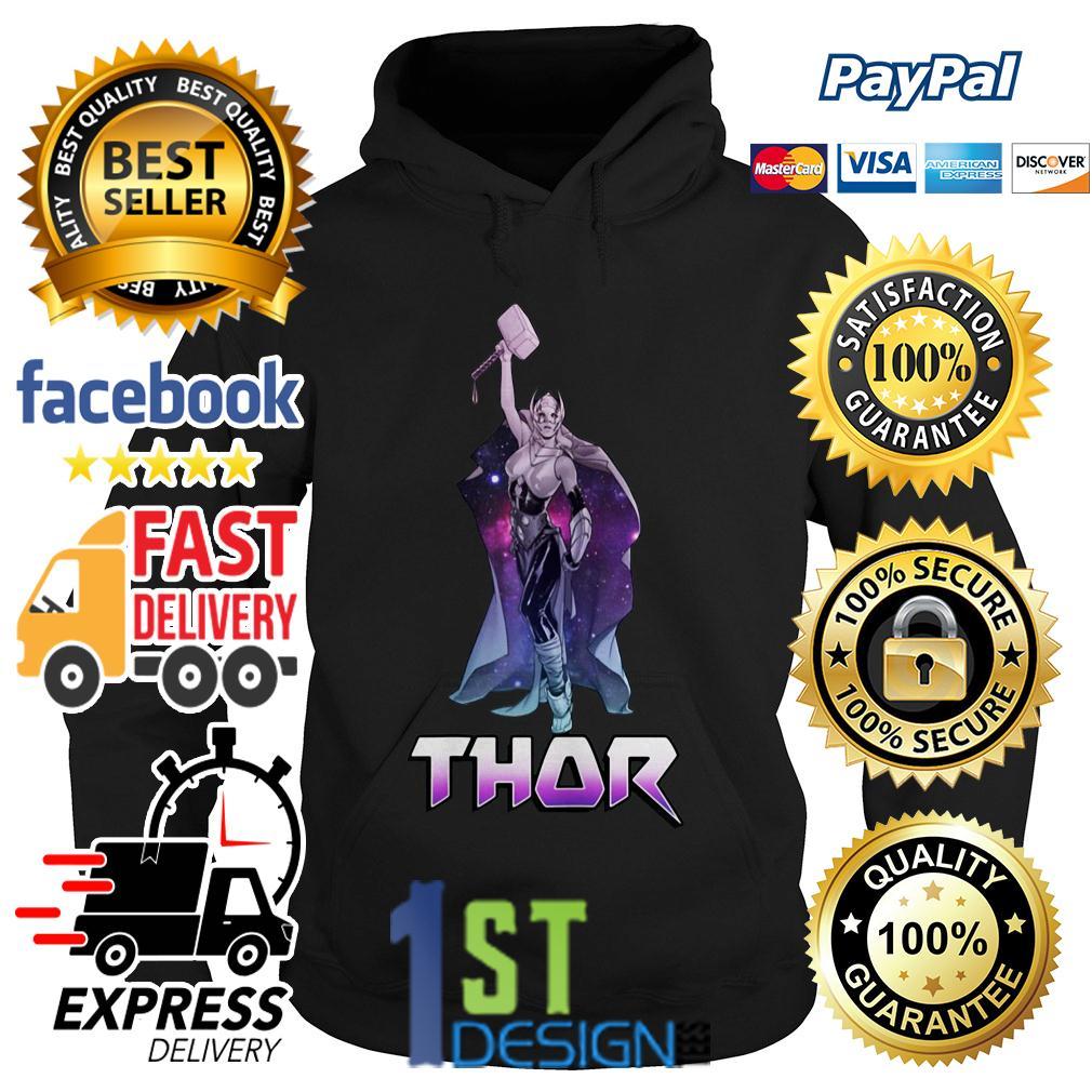 Marvel Female Thor Celestial Hammer in air Hoodie