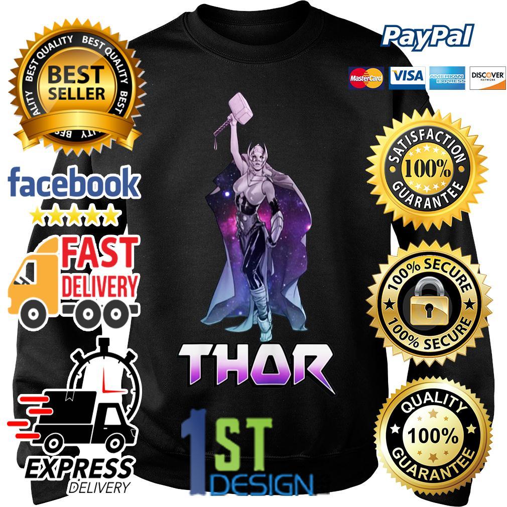 Marvel Female Thor Celestial Hammer in air Sweater