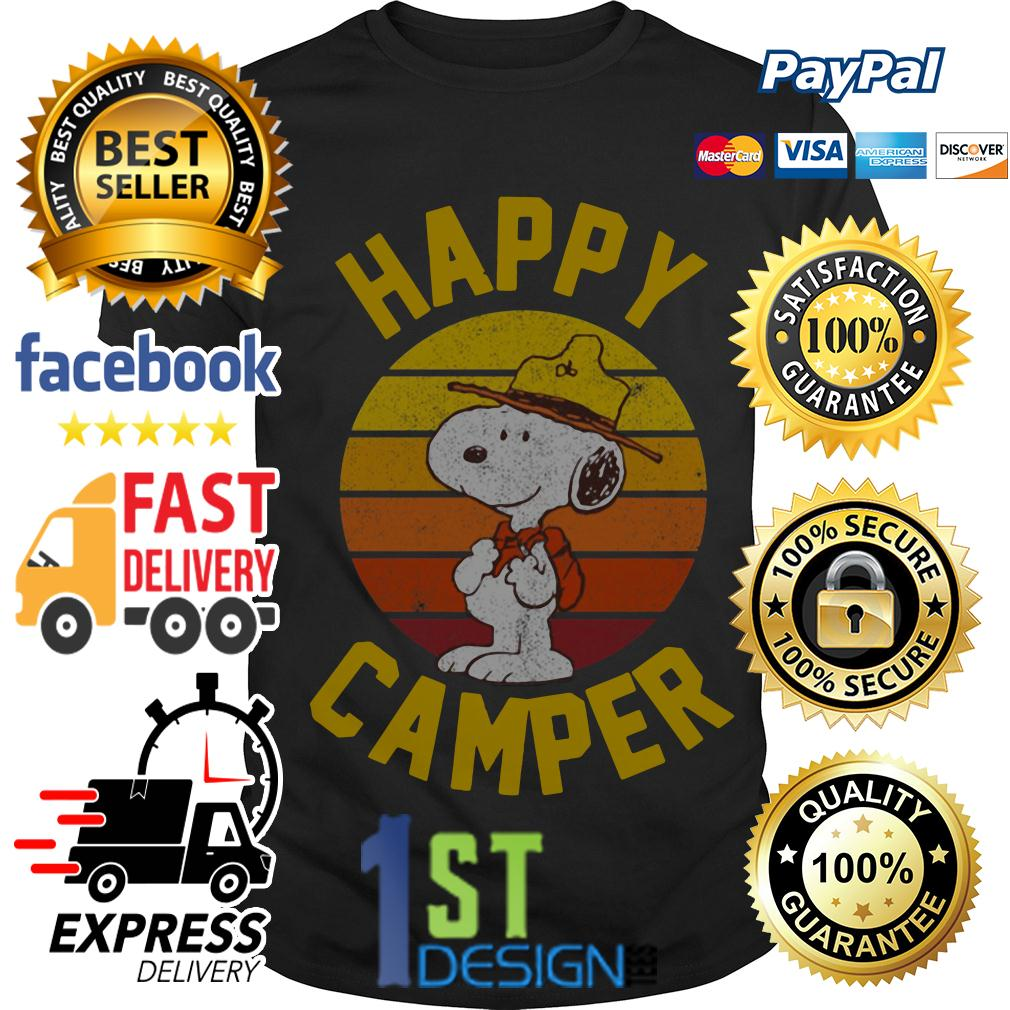 Peanuts Snoopy happy camper vintage shirt