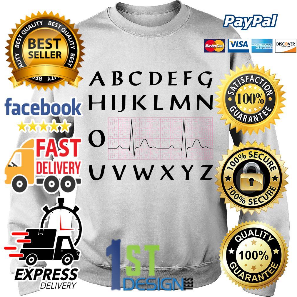 PQRST nurse heartbeat alphabet Sweater