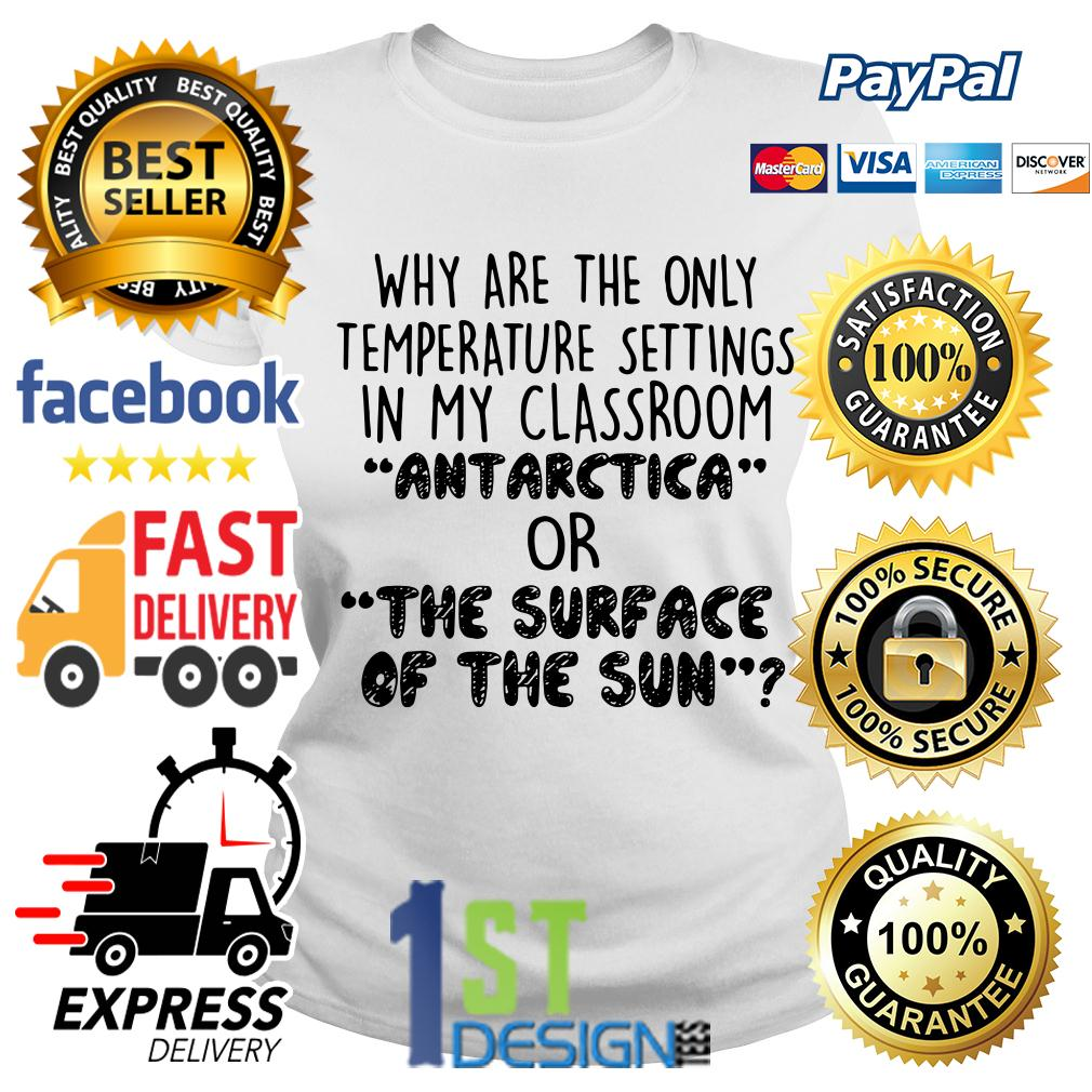 Why are the only temperature settings in my classroom Antarctica Ladies Tee