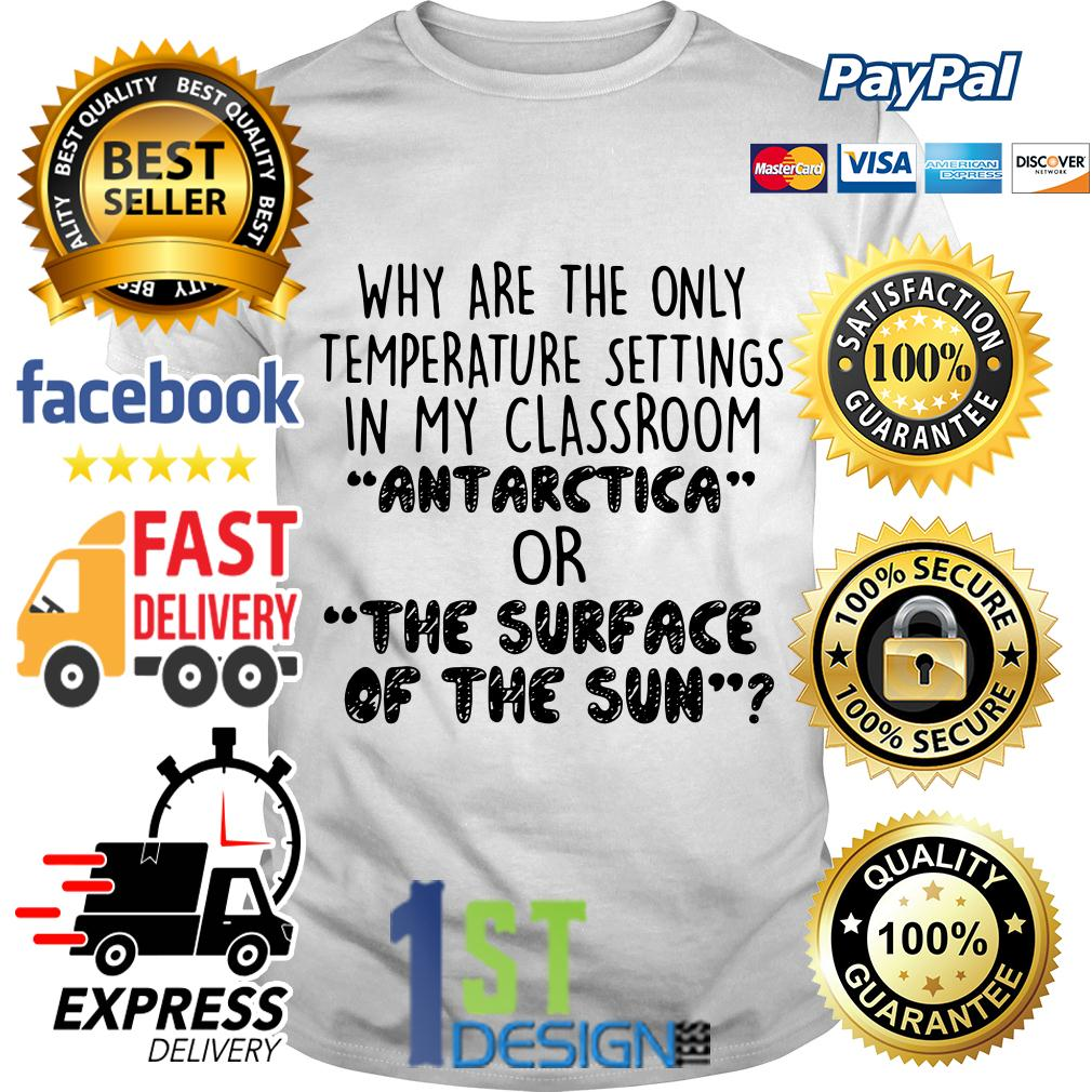 Why are the only temperature settings in my classroom Antarctica shirt