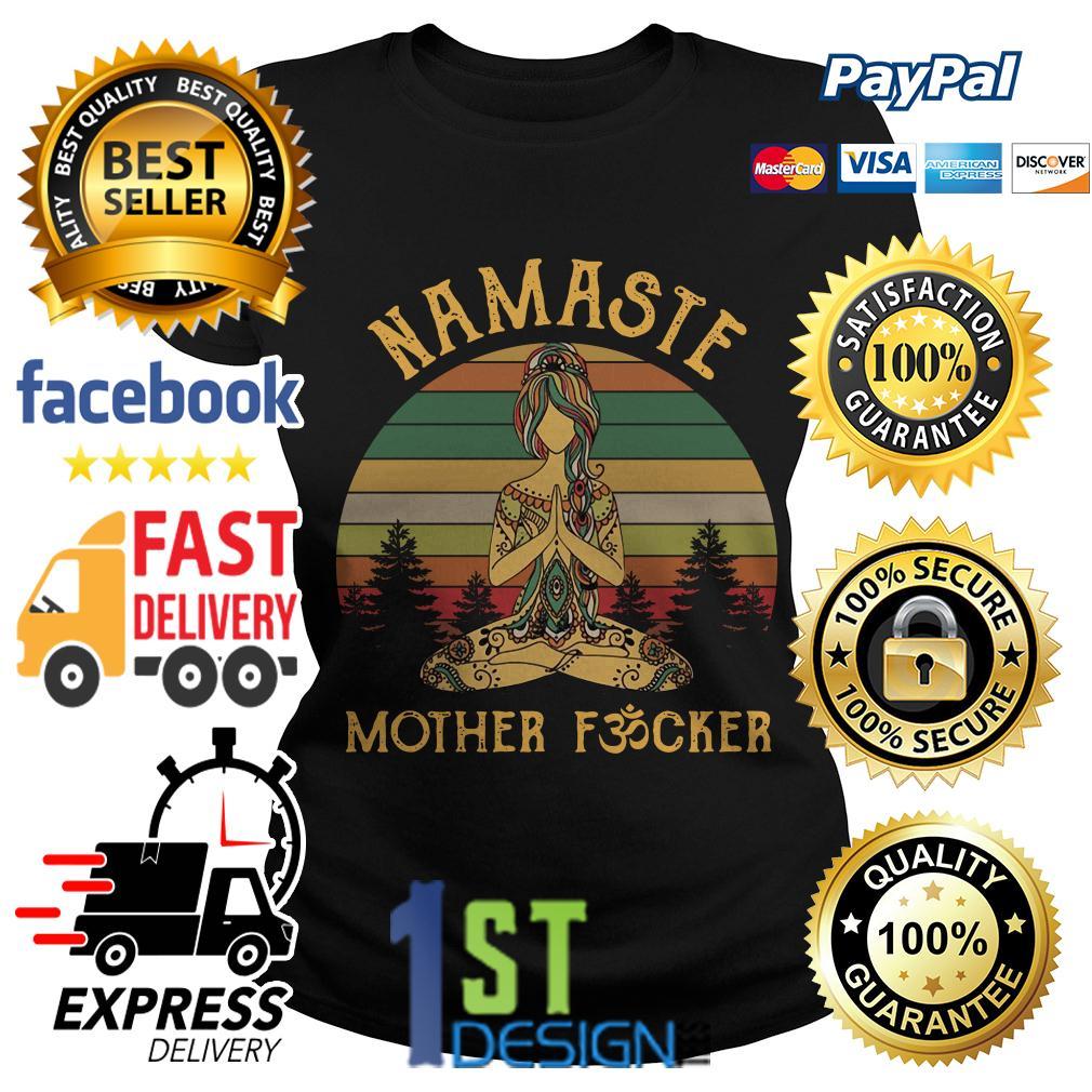 Yoga Namaste mother fucker vintage Ladies Tee