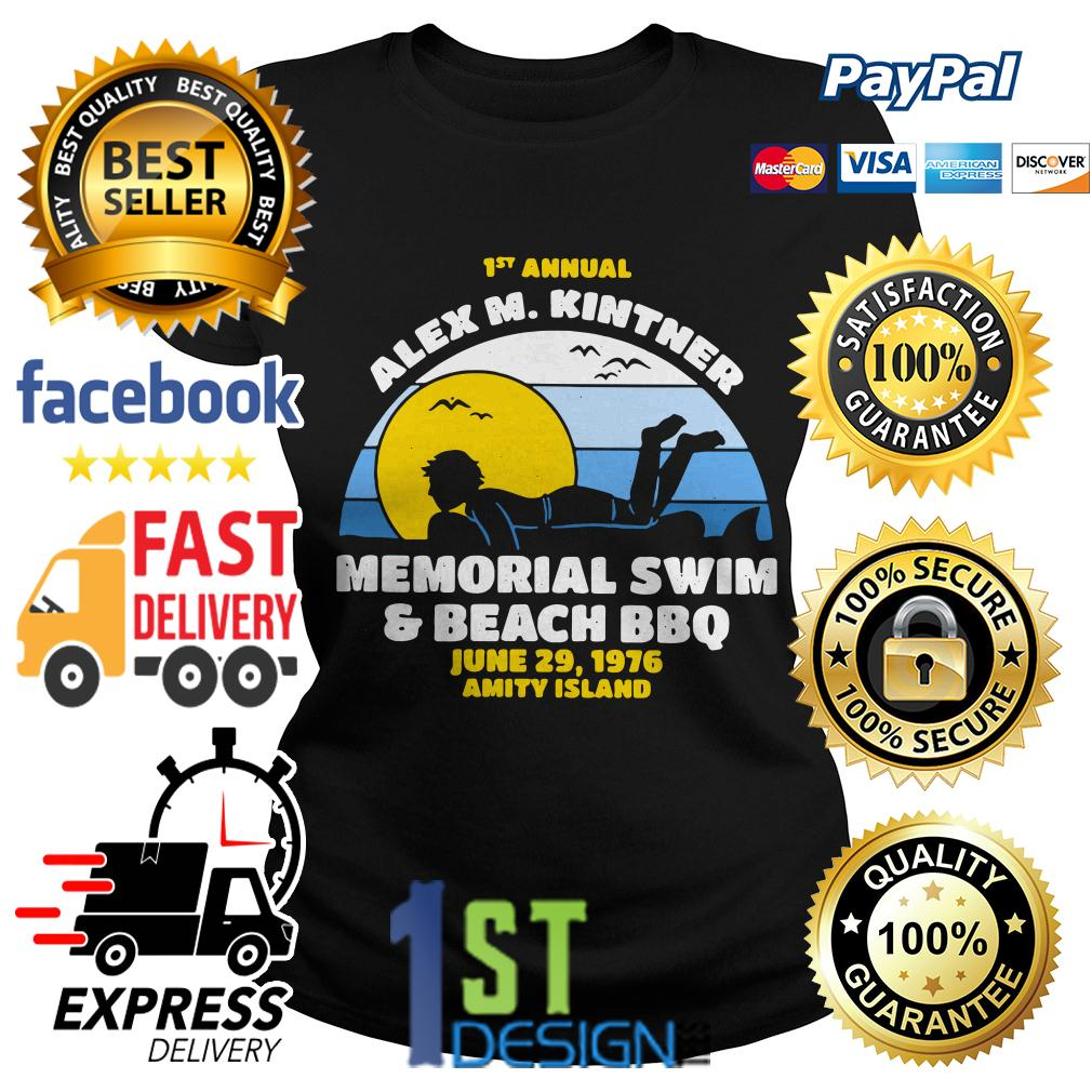 1st annual Alex M.Kintner memorial swim and beach BBQ June 29 Ladies Tee