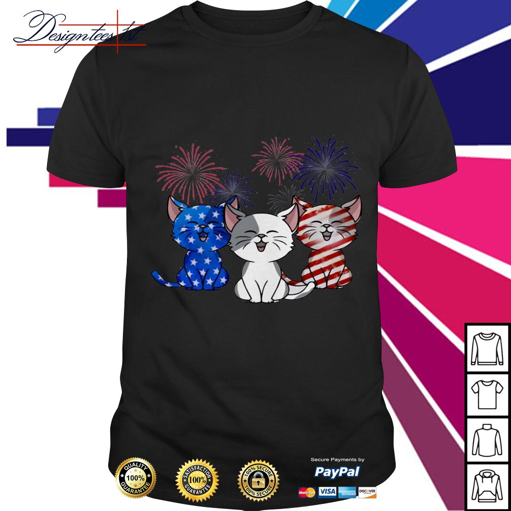 4th July Independence day Cat American Flag shirt