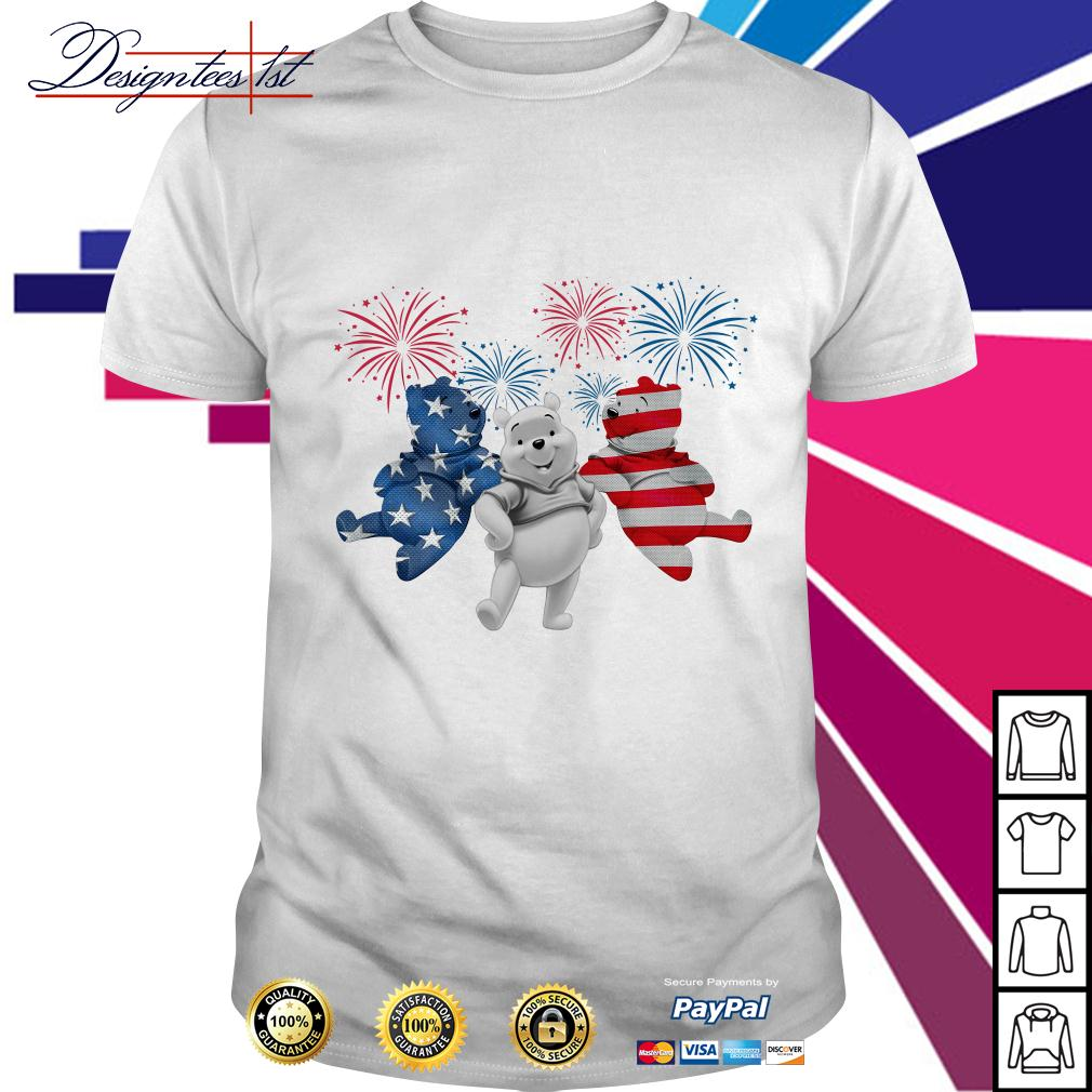 4th July Independence day Pooh American Flag shirt