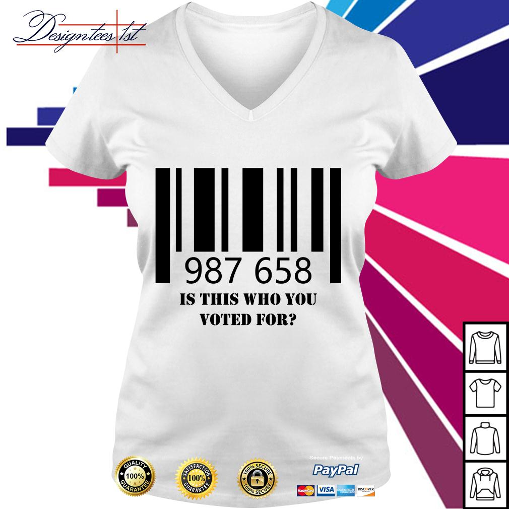 987 658 is this who you voted for V-neck T-shirt