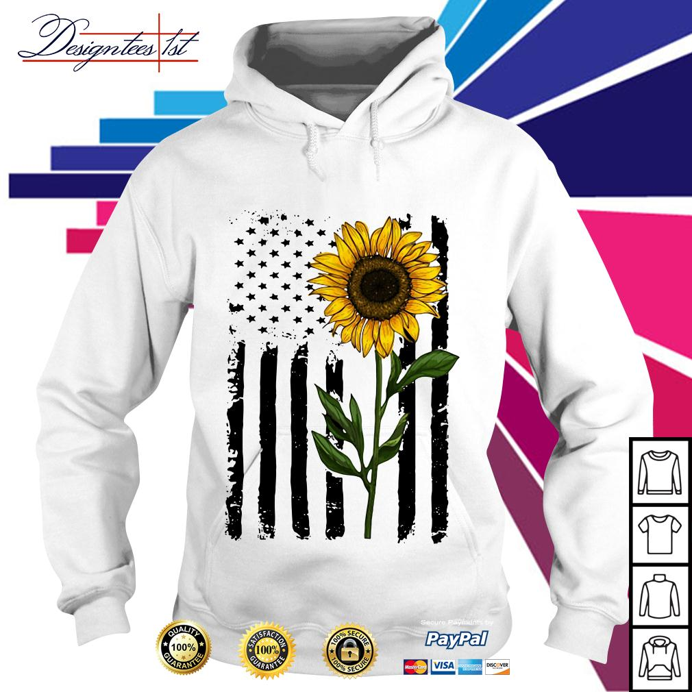 American flag sunflower 4th of July Independence day Hoodie