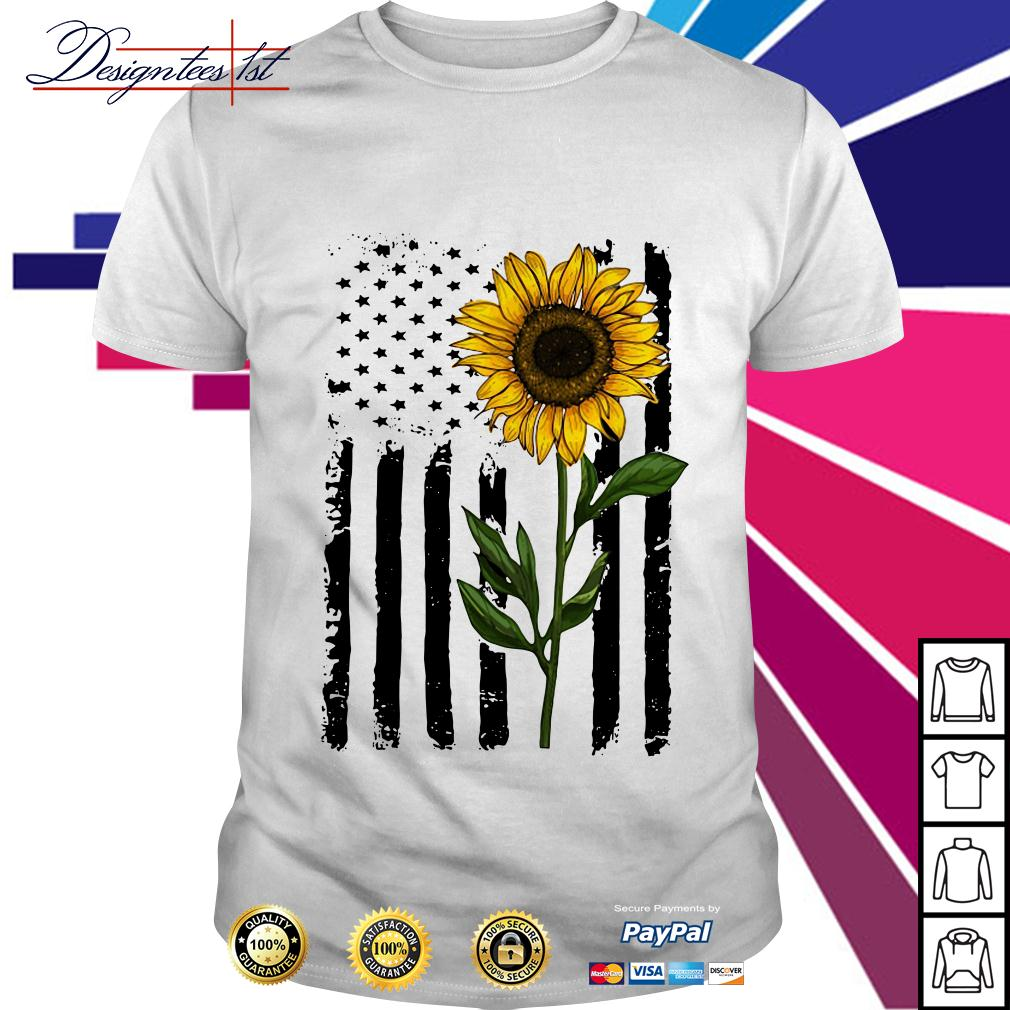 American flag sunflower 4th of July Independence day shirt