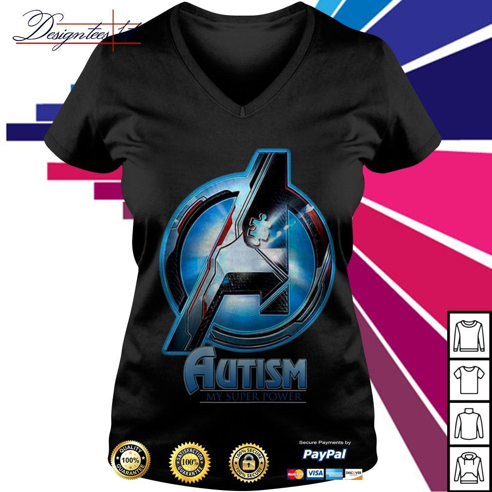 Avengers autism my super power V-neck T-shirt