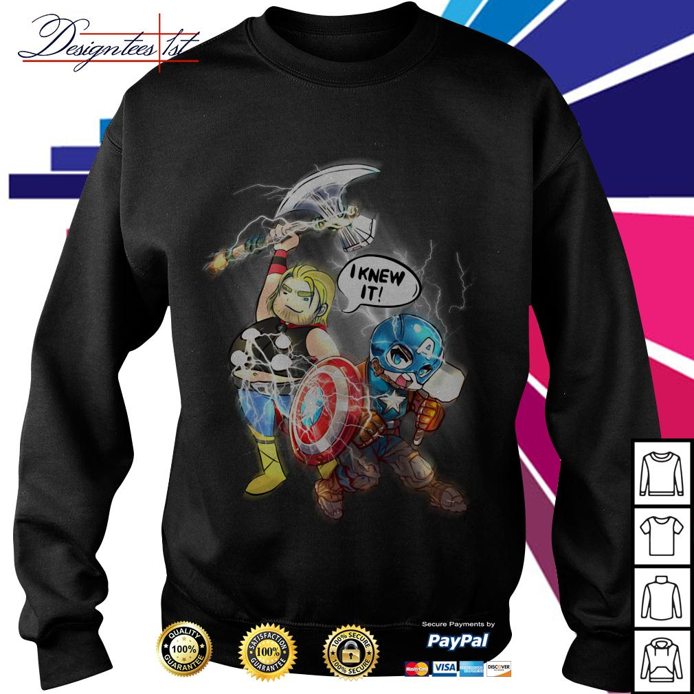 Avengers Endgame Fat Thor and Captain American I knew it Sweater