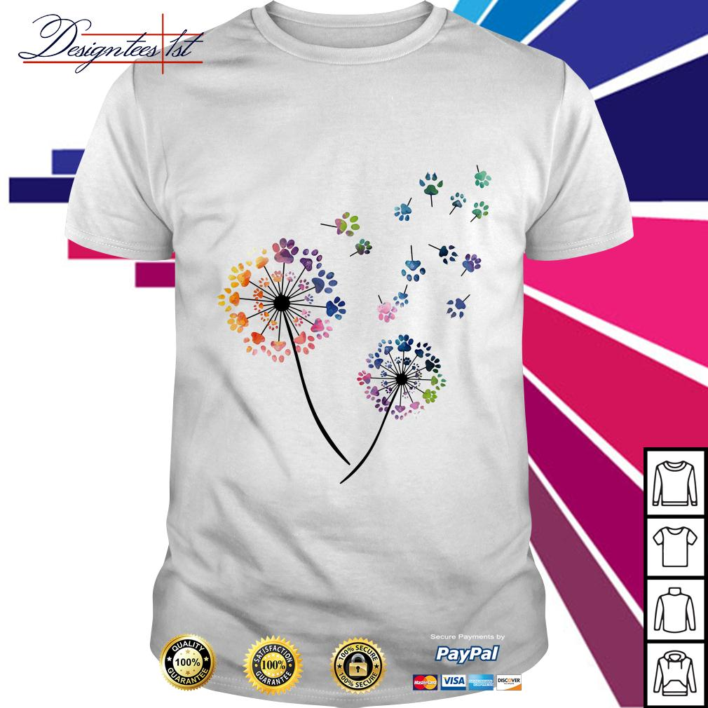 Dandelion dog paw shirt