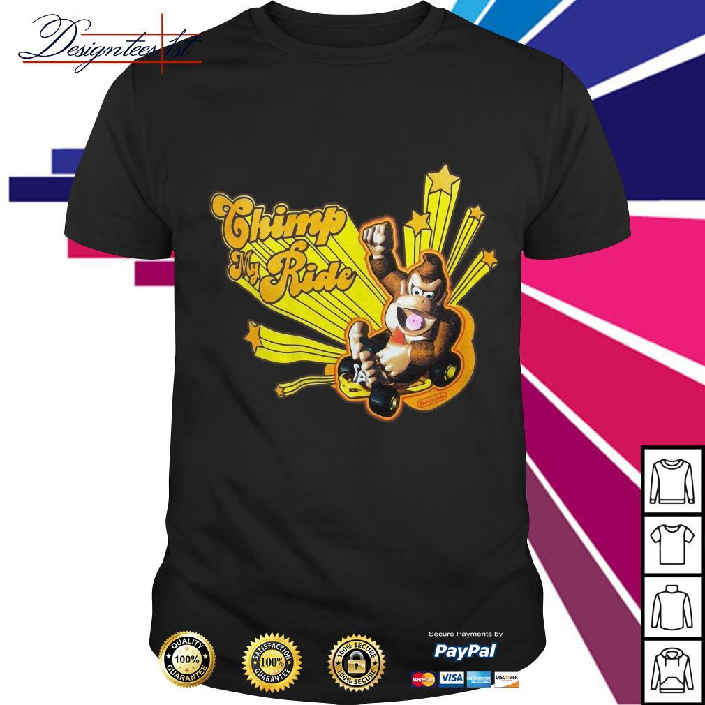 Donkey Kong Mario Kart chimp my ride shirt