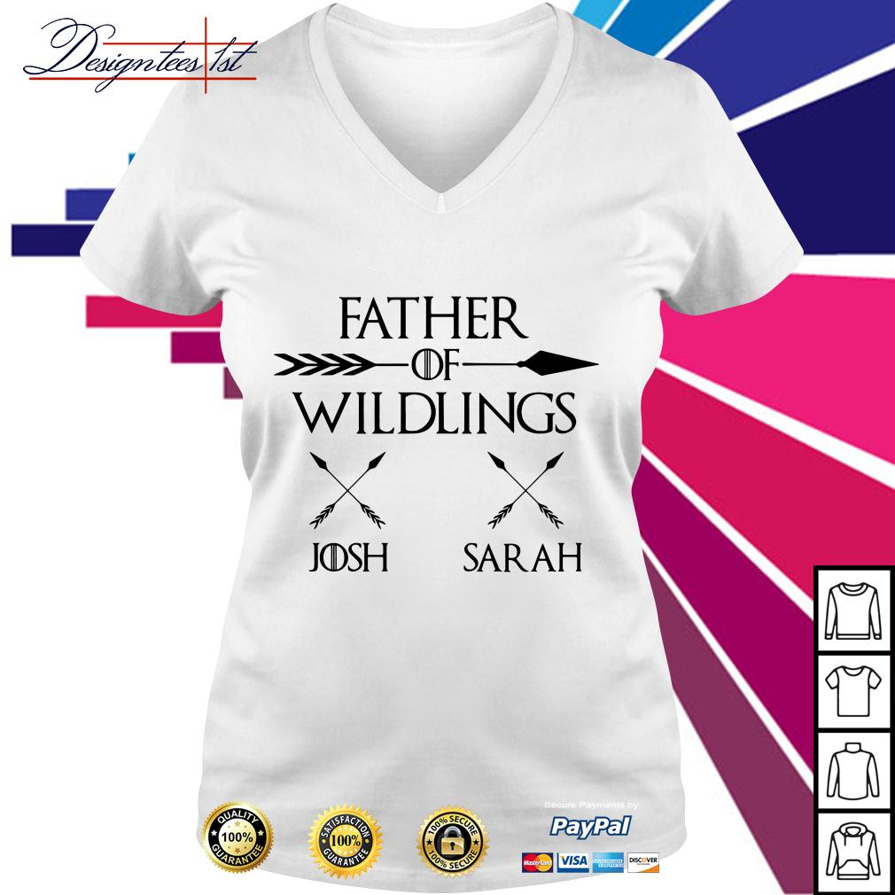 Game of Thrones father of wildlings Josh Sarah V-neck T-shirt
